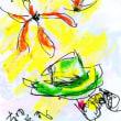 朝日記170715 音楽絵画・夏の北海道の旅と今日の絵