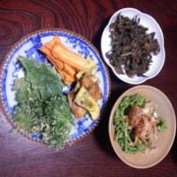 富士山の山菜を楽しみました