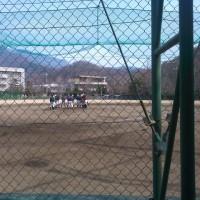 小高野球部の練習へ