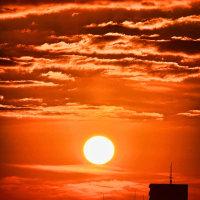 昇る太陽 ~マンションの窓から~2