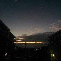 ダイニングからの朝陽