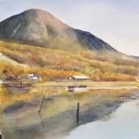 蓼科山と女神湖