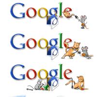 ねずみがいるよ!Googleのロゴでストーリー展開?