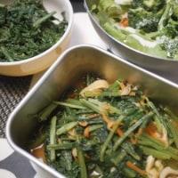 野菜の副菜とカレイの塩焼きとカツオのたたきでごはん