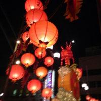 長崎ランタン祭り、月が飾られて
