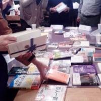 会話のおともの珈琲とハーブティー準備中 東京読書交換会