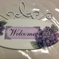 紫陽花のウェルカムプレート