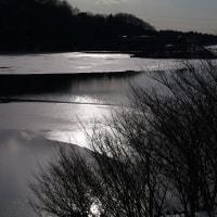 2月2日(水) 晴 ダム湖部分結氷