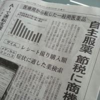 日経新聞読んでます~セルフメディケーション/2017/6/26
