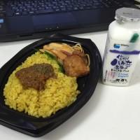 今日のお昼ごはん キーマカレープレート