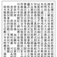 足利市の水神堤防に関する災害碑を掲載。