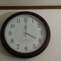 壁掛け時計を新調