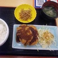 富士川SA(下り線)のコロッケ定食
