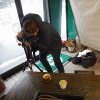 地域情報誌「BonNo」の取材・・・たった一杯のお茶の撮影に、プロの技術と拘りを感じます。