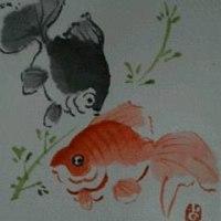 手紙絵 ⑫ 金魚