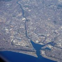 田子の浦港、そして中央アルプス下部、ダム地帯  空撮シリーズVol171