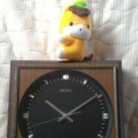 表彰:壁掛け時計、ビブロン君