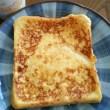 今朝は、フレンチトーストみたいなモノ