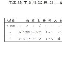 試合結果 3/20 (成年C級)
