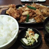 オリジンダイニング 実籾店 豚キムチ定食 から揚げ付き