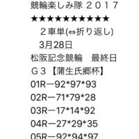 3/28 松阪記念 最終日