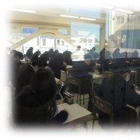 センター試験明けの学校風景