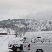 雪の朝は温かい雑炊
