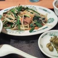 日高屋 京成津田沼 ニラレバ炒め定食