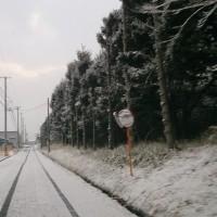 路面にバウンドする雪