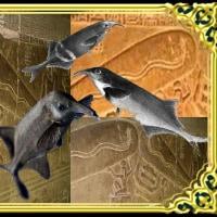 象の鼻を持つ発電魚・・・歯(葉・頗)通伝・・・エジプトのデンデラ
