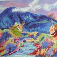 マリーン日記ー柏で始まる風の会展の絵を送りました。