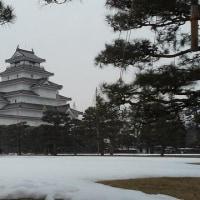 囲碁と雪の鶴ヶ城