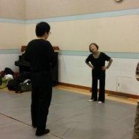 稽古場日誌 47号 今年の最後の稽古はバレエ、男ばかりの。