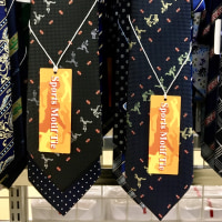 ラグビー柄のネクタイ