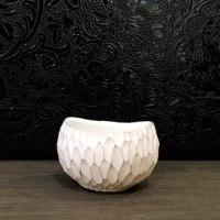 安藤良輔さん 彫紋 酒器 銀彩と焼き締め