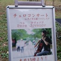 チェロコンサートー代々木公園にて