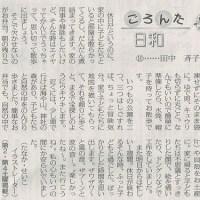 #akahata 家事うっちゃり散歩/ごろんた日和 ⑩ 田中斉子・・・今日の赤旗記事