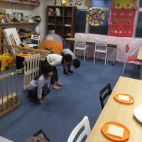 学童の英語ダンスと工作教室