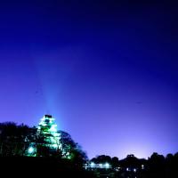 【星景写真】国際宇宙ステーションと岡山城