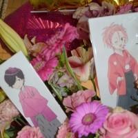 両国国技館にお届けの3基連結バルーンスタンド花