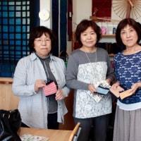 親戚一同さまの手織り体験     竹島クラフトセンター