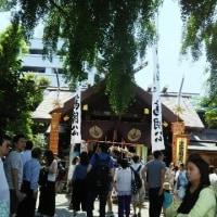 お祭りです。築地市場の水産仲卸の佃林です。市場隣の神社のお祭りです