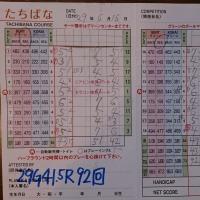 今日のゴルフ挑戦記(121)/新千葉CC「たちばな」イン→アウト(ベント)
