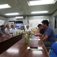 後援会と貴峰会の合同会議に参加しました。