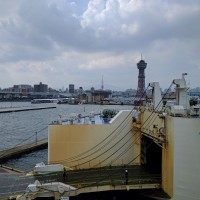 博多港と韓国人ライダー