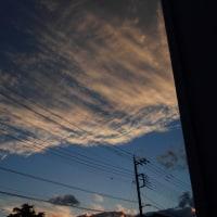 甲府市に現われた彩雲  平成28年10月26日