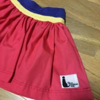 息子のパンツのウエスト部分を使って、娘ののスカートを作りました