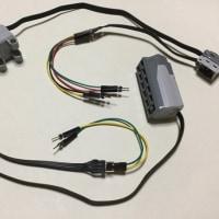 IchigoJam + TB6612モータードライバー  で、LEGO Power Functions Motor と Servo Motor を制御する実験。