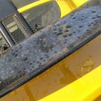 エキシージ洗車に固形ワックス...