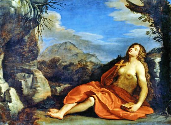 《改悛するマグダラのマリア》1952-55年、油彩・カンヴァス、177 ... 『グエルチーノ展